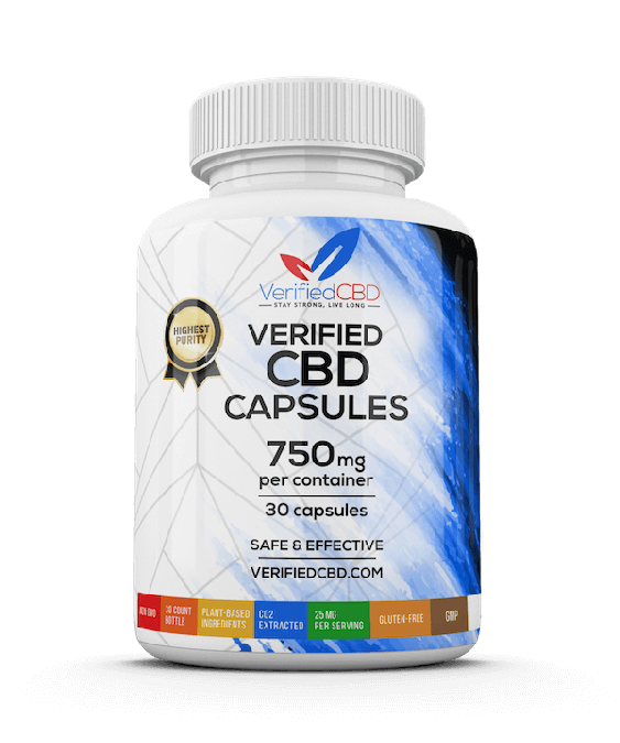 Verified CBD capsules 25mg (750mg)